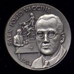 1954 Salk Polio Vaccine Longines Silver Art Round