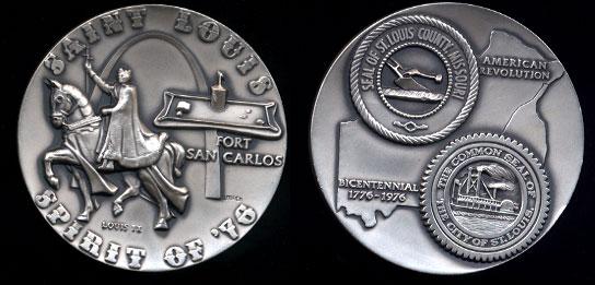 Saint Louis / U.S. Bicentennial Commemorative Pure Silver Round