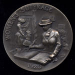 1920 Women's Suffrage Longines Silver Art Round