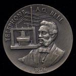 Alexander G. Bell Longines Silver Art Round