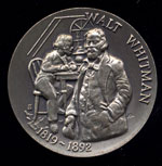 Walt Whitman Longines Silver Art Round