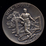 1879-1935 Will Rogers Longines Silver Art Round