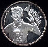 Archie Cartoon Celebrities Silver Round