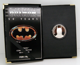 Batman Commemorative Silver Round in box