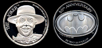 The Joker Commemorative Silver Round in box