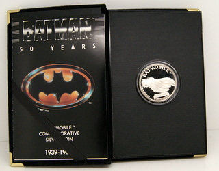 Batmobile Commemorative Silver Round in box