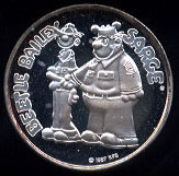 Beetle Bailey & Sarge Cartoon Celebrities Silver Round