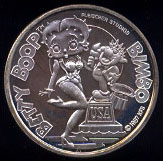 Betty Boop Cartoon Celebrities Silver Round