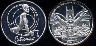 Batman Returns DC Comics Inc. 1964 Mintage: 5,000 Set Number: 1805 CatWoman Silver Round