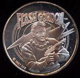 Flash Gordon Cartoon Celebrities Silver Round