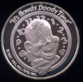 """""""It's Howdy Doody Time"""" Cartoon Celebrities Silver Round"""