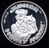 Junior Honey Moon Cartoon Celebrities Silver Round