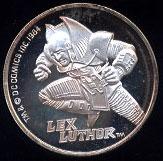 Lex Luthor Cartoon Celebrities Silver Round