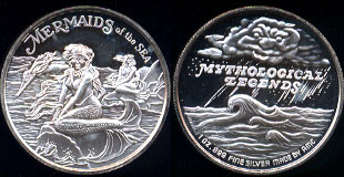 Mermaid AMC Mythological Legends Mermaids of the Sea Silever Round