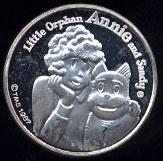 Orphan Annie & Sandy Cartoon Celebrities Silver Round