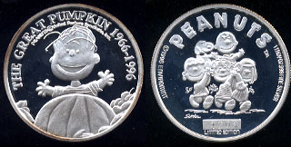 Peanuts Limited Edition The Great Pumpkin 1966-1996 Silver Round