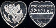 "Pegasus Heart 1/2 oz ""For Someone Special"" 1/2 oz Silver Art Round"