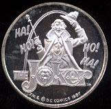 The Joker Cartoon Celebritites Silver Round