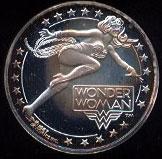 Wonder Woman Cartoon Celebrities Silver Round