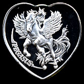 Pegasus Silver Heart