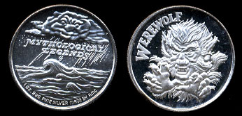Proof Werewolf AMC Mythological Legends Silver Art Round