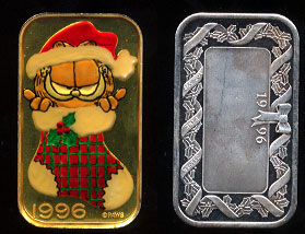 ST-229EN (1996) Garfield in Stocking Silver Art Bar