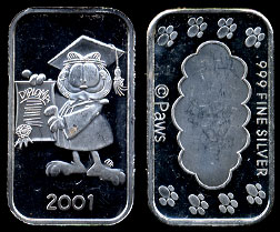 ST-231  Garfield 2001 Graduation Silver Bar