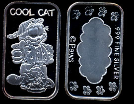"ST-234 Garfield ""Cool Cat"" Silver Art bar"