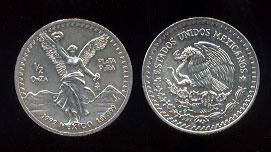 1992 Half Ounce Onza Silver round