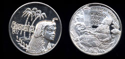 Cleopatra Heralds the 1984 New Orleans World's Fair silver medal