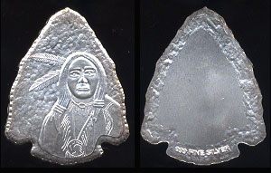 Silver Indian Arrowhead Silver Round