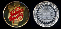 Indiana University Enameled Commem silver round