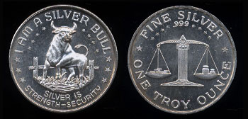 "I Am A Silver Bull ""Silver is Strength-Security"" Silver Round"