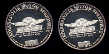 Indianapolis Motor Speedway 1oz Silver Round