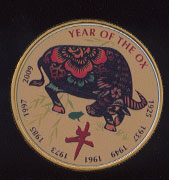 Year of the Ox Colored Silver Round