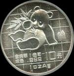 1989 China Silver Panda Coin