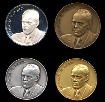Obverse Gerald Ford 4-medal set