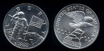 Uncirculated Young Astronauts Silver Medal