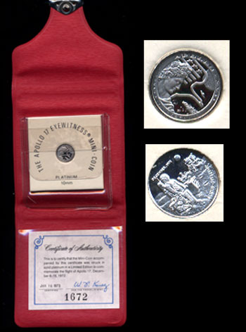 Apollo 17 Eyewitness Mini-coin (Platinum)
