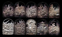 """Hamilton Mint's """"The Ten Commandments"""" Silver Art Bar Ingot Set"""