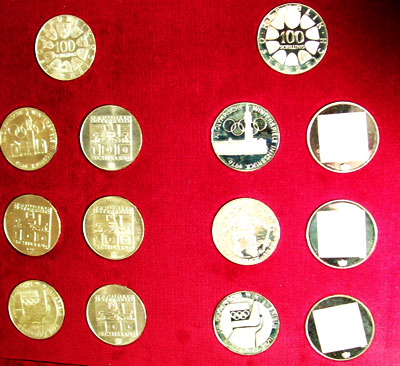 1976 Innsbruck, Austria Winter Olympic Proof and Uncirculated 14 Coin  Silver Set