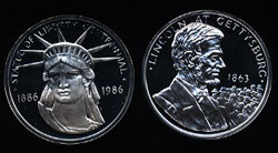 Statue of Liberty Centennial Medal / Coin Set