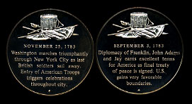 The Franklin Mint History of the American Revolution 50 Medal Silver Proof Set 1st edition