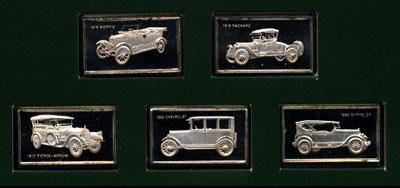 Franklin Mint's Centennial Car Proof Mini Ingot Collection