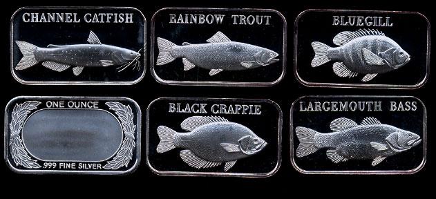 Proof Silvertowne Fish Ii Silver Art Bar Set
