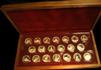 Great American Landmarks Special Proof Silver Set  The Franklin Mint
