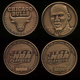 Michael Jordan #23 Chicago Bulls 2-Piece Bronze Set