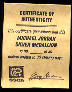 Officially Licensed by Upper Deck Michael Jordan #23 Silver Round