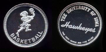 University of Iowa Hawkeyes Silver Round
