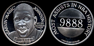 "Earvin ""Magic"" Johnson Silver Round"